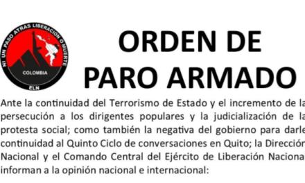 Fiscalía de Colombia emite orden de captura contra el Comando Central del ELN.