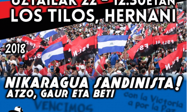 Aniversario Victoria de la Revolución Popular Sandinista en Hernani, Euskal Herria.