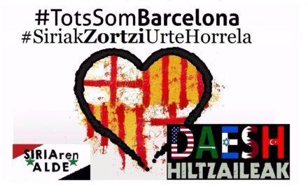 EH: Concentración en solidaridad con las víctimas del DAESH.