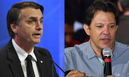 Elecciones Brasil: Bolsonaro y Hadad se medirán en segunda vuelta.