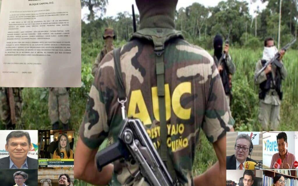 """""""Águilas Negras- Bloque Capital"""" amenaza a políticos, líderes sociales y periodistas"""