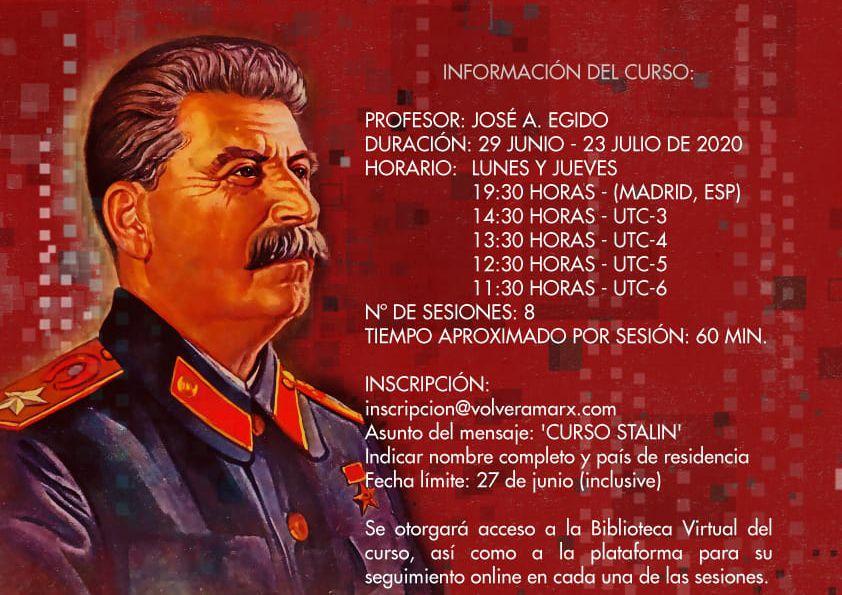 """""""Stalin y la construcción del socialismo"""" Entrevista con el profesor J.A. Egido de la Asociación Cultural """"Volver a Marx"""""""